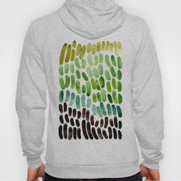 Lime Green Olive Green Aqua Green Natural Patterns Colorful Watercolor Abstract Art Mid Century Mode Hoody