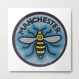 Manchester Bee Metal Print