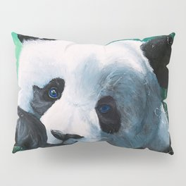 Panda - A little peckish - by LiliFlore Pillow Sham