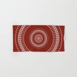 Two Toned Minimual Mandala Design Hand & Bath Towel