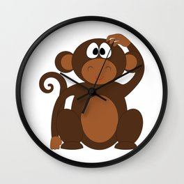 Silly Monkey Wall Clock