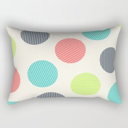 Dots with stripes [cheer up emo kid] Rectangular Pillow
