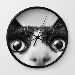 Funny Cat black and white Wall Clock