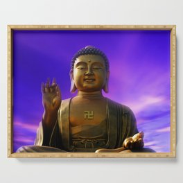 Buddha Blue Dawn Serving Tray