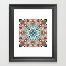 Abstract Pastels Mandala Framed Art Print