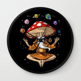 Buddha Magic Mushroom Wall Clock