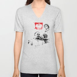 Polish King Jan III Sobieski & Marysienka Unisex V-Neck