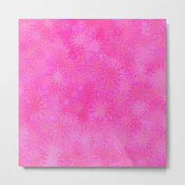 Cotton Candy Winter Metal Print