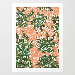 LEVEL UP LYRICS & PALM TREE ORANGE Art Print