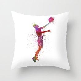 young man basketball player Throw Pillow