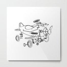 Pedal Plane Metal Print