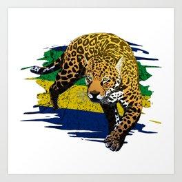 Brasil power Art Print