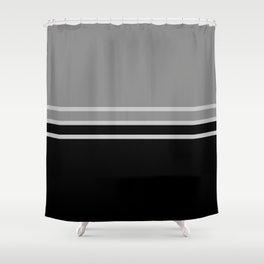 Split 10 Grayscale Shower Curtain