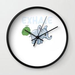 Funny Elephant Exhale Wall Clock