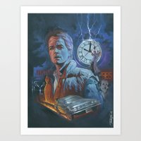 back to the future Art Prints featuring BACK TO THE FUTURE by Todd Spence