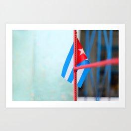 132. Cuban Flag, Cuba Art Print