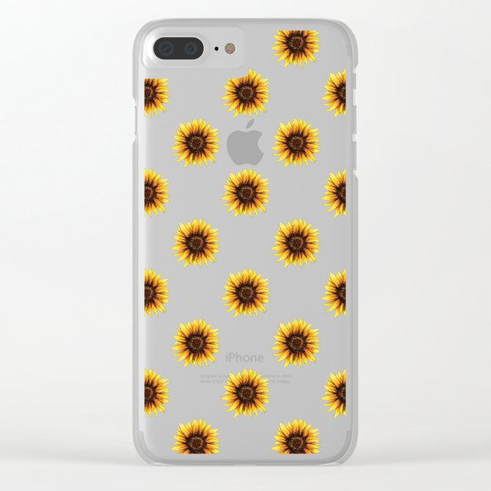 huge selection of 21a90 0f38d Sunflower Clear iPhone Case