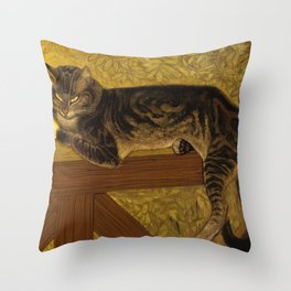 "Théophile Steinlen ""Cat on a Balustrade"" Throw Pillow"