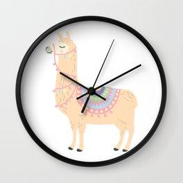 My Llama Don't Like You Cute Llama Party Wall Clock