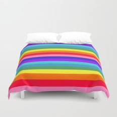 Stripes of Rainbow Colors Duvet Cover