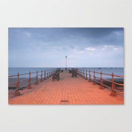 The Pier At Swanage  Canvas Print