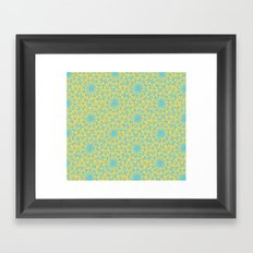 geometric vintage blue/orange Framed Art Print