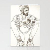 zayn Stationery Cards featuring Zayn by harrydoodles