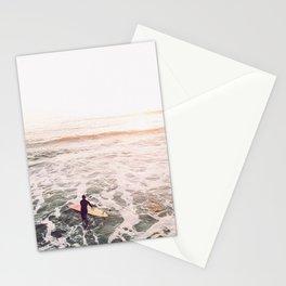 surf summer sunset Stationery Cards