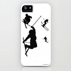 Skiing silhouettes Slim Case iPhone (5, 5s)