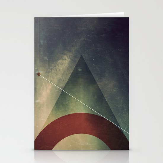 triangle half circle Stationery Cards