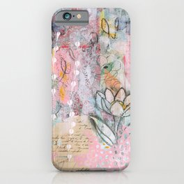 Mariposa Rosa iPhone Case