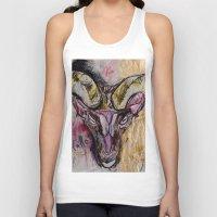goat Tank Tops featuring Goat by Derek Boman