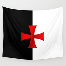Dual color knights templar red cross Wall Tapestry