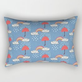 April showers rainbow Clouds Blue #nursery Rectangular Pillow