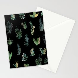 Green Nature at Night Stationery Cards