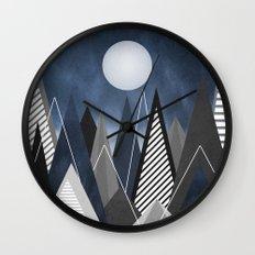 Midnight Mountains Wall Clock