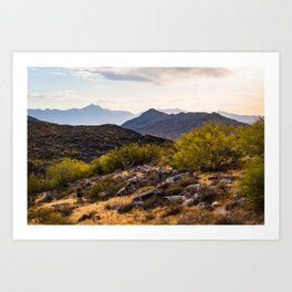 Top of South Mountain in Phoenix Arizona Art Print
