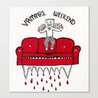 vampire weekend Canvas Prints featuring Vampire Weekend by NNHS ART CLUB