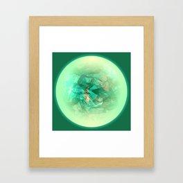 Chrystal Glow Green Abstract Framed Art Print