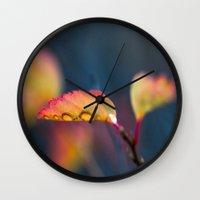leaf Wall Clocks featuring Leaf by Dora Birgis