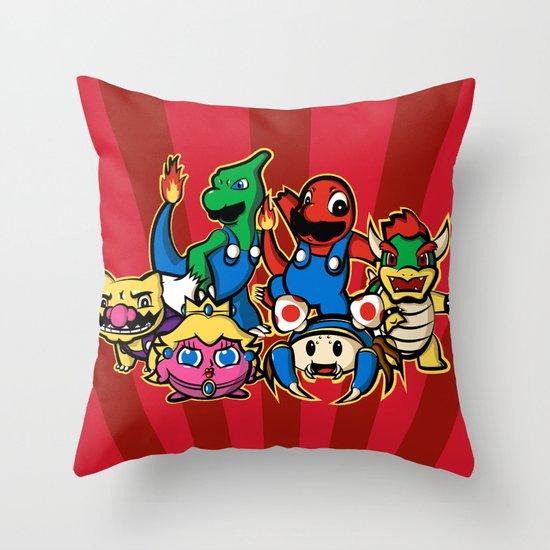 Mariomon Throw Pillow