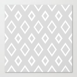 Abstract geometric pattern - gray and white. Canvas Print