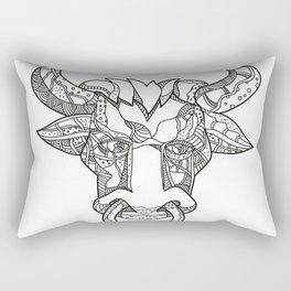 Pinzgauer Bull Head Front Doodle Art Rectangular Pillow