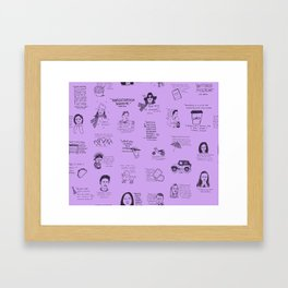 Gilmore Girls Quotes in Purple Framed Art Print