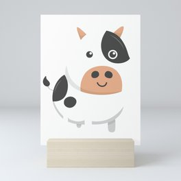Adorable Cow & Cute Baby Calf Mini Art Print