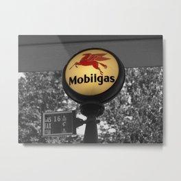 Mobil Gas photography Metal Print