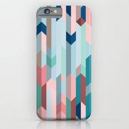 Blue & Pink Chevron Pattern iPhone Case