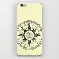 compass iPhone & iPod Skins featuring Compass by Smokacinno