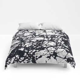 Messy Marbled Black Lines Comforters
