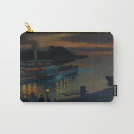 A Nightly River Cruise, Mississippi River by Ernst Max Pietschmann Carry-All Pouch
